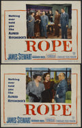 """Movie Posters:Hitchcock, Rope (Warner Brothers, 1948). Lobby Cards (2) (11"""" X 14"""").Hitchcock.... (Total: 2 Items)"""