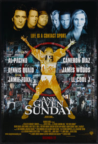 """Any Given Sunday (Warner Brothers, 1999). One Sheet (27"""" X 40"""") DS. Sports"""