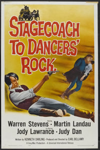 "Stagecoach to Dancers' Rock (Universal International, 1962). One Sheet (27"" X 41""). Western"