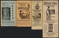 This Nude World Lot (Sotomayor, 1933). Heralds (4). Documentary.... (Total: 4 Items)