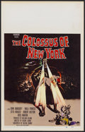 """Movie Posters:Science Fiction, The Colossus of New York (Paramount, 1958). Window Card (14"""" X22""""). Science Fiction...."""