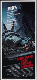 "Movie Posters:Action, Escape from New York (Avco Embassy, 1981). Insert (14"" X 36"").Action...."