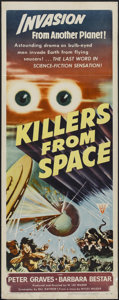 "Movie Posters:Science Fiction, Killers From Space (RKO, 1954). Insert (14"" X 36""). ScienceFiction...."