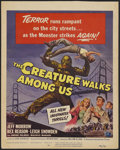 "Movie Posters:Science Fiction, The Creature Walks Among Us (Universal International, 1956). WindowCard (14"" X 17.5""). Science Fiction...."