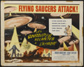 "Movie Posters:Science Fiction, Earth vs. the Flying Saucers (Columbia, 1956). Half Sheet (22"" X28""). Science Fiction...."