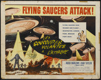 "Earth vs. the Flying Saucers (Columbia, 1956). Half Sheet (22"" X 28""). Science Fiction"