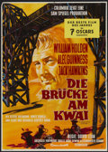 "Movie Posters:Academy Award Winner, The Bridge On The River Kwai (Columbia, 1958). German A1 (23"" X33""). Academy Award Winner...."