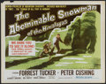 """Movie Posters:Adventure, The Abominable Snowman of the Himalayas (20th Century Fox, 1957).Half Sheet (22"""" X 28""""). Adventure...."""