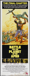 """Movie Posters:Science Fiction, Battle for the Planet of the Apes (20th Century Fox, 1973). Insert(14"""" X 36""""). Science Fiction...."""
