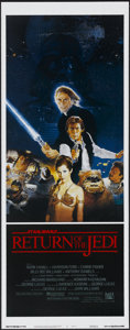 """Movie Posters:Science Fiction, Return of the Jedi (20th Century Fox, 1983). Insert (14"""" X 36""""). Science Fiction...."""