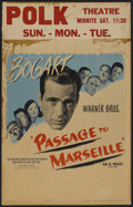 "Movie Posters:War, Passage to Marseille (Warner Brothers, 1944). Window Card (14"" X22""). War...."