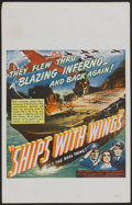 """Movie Posters:War, Ships with Wings (United Artists, 1942). Window Card (14"""" X 22"""").War...."""