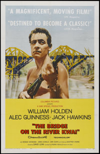 "The Bridge On The River Kwai (Columbia, 1958). One Sheet (27"" X 41""). Academy Award Winner"