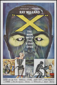 """X-The Man With the X-Ray Eyes (American International, 1963). One Sheet (27"""" X 41""""). Science Fiction"""