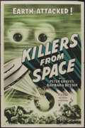 "Movie Posters:Science Fiction, Killers From Space (RKO, 1954). One Sheet (27"" X 41""). ScienceFiction...."