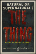 "Movie Posters:Science Fiction, The Thing From Another World (RKO, 1951). One Sheet (27"" X 41"").Science Fiction...."
