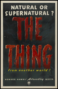 "The Thing From Another World (RKO, 1951). One Sheet (27"" X 41""). Science Fiction"