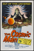 "Movie Posters:Science Fiction, The Cosmic Man (Allied Artists, 1959). One Sheet (27"" X 41"").Science Fiction...."
