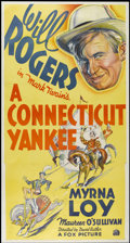 """Movie Posters:Comedy, A Connecticut Yankee (Fox, R-1936). Three Sheet (41"""" X 81""""). Comedy...."""