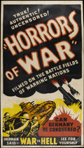 "Movie Posters:War, Horrors of War (Pathe, R-1930s). Three Sheet (41"" X 81""). War...."