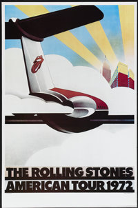 """The Rolling Stones American Tour 1972 (Sunday Promotions, 1972). Concert Poster (25"""" X 38""""). Rock and Roll"""