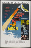 "Movie Posters:Science Fiction, From the Earth to the Moon (Warner Brothers, 1958). One Sheet (27"" X 41""). Science Fiction...."