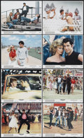 "Movie Posters:Musical, Grease (Paramount, 1978). Mini Lobby Card Set of 8 (8"" X 10"").Musical.. ... (Total: 8 Items)"