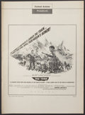"Movie Posters:War, The Train Lot (United Artists, 1965). Pressbooks (2) (13"" X 18"").War. Lot also includes a pressbook for ""The Counterfeit Tr...(Total: 2 Items)"