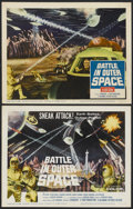 """Movie Posters:Science Fiction, Battle in Outer Space (Columbia, 1960). Title Lobby Card and LobbyCard(11"""" X 14""""). Science Fiction.... (Total: 2 Items)"""