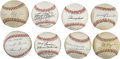 Autographs:Baseballs, St. Louis Cardinals Greats Single Signed Baseballs Lot of 8.Collection of single signed orbs offered here comes to us by w...