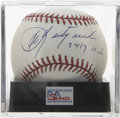 "Autographs:Baseballs, Carl Yastrzemski ""3419 Hits"" Single Signed Baseball, PSA Mint+ 9.5.Baseball's last winner of the Triple Crown in hitting ma..."