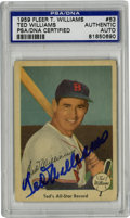 Autographs:Sports Cards, Ted Williams Signed 1959 Fleer Card, PSA Authentic. The 1959 TedWilliams Fleer set is almost as famous as the great man hi...