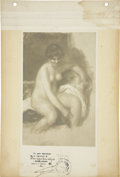 Autographs:Artists, Pierre-Auguste Renoir Photograph of Painting Signed...