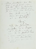 Autographs:Artists, Pierre-Auguste Renoir Autograph Letter Signed...