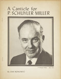 Books:Signed Editions, Sam Moskowitz. A Canticle for P. Schuyler Miller. Newark: Sam Moskowitz, 1975.. ...