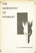 Books:First Editions, H. Warner Munn. The Werewolf of Ponkert. Providence, RhodeIsland: The Grandon Company, 1958....