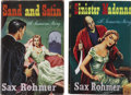 Books:First Editions, Sax Rohmer. Two First Editions, including: Sand and Satin;Sinister Madonna. London: Herbert Jenkins [1955-1... (Total:2 Items)