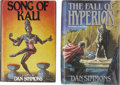 Books:First Editions, Dan Simmons. Two First Editions, One Signed,... (Total: 2 Items)