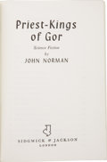 Books:First Editions, John Norman [pseudonym for John Frederick Lange, Jr.].Priest-Kings of Gor. London: Sidgwick & Jackson,[1971]....
