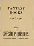 Books:Pamphlets & Tracts, Fantasy Books, 1948-49, from Shasta Publishers. Chicago:Shasta Publishers, 1949....