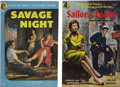 Books:First Editions, [Jim Thompson] Two Hard-Boiled Fiction Paperbacks, including: JimThompson. Savage Night.... (Total: 2 Items)