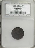 1722 1/2P Rosa Americana Halfpenny, 'Dei Gratia'--Corroded--VF20 NCS. VF Details . NGC Census: (0/0). PCGS Population (0...