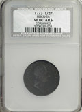 1723 1/2P Hibernia Halfpenny--Corroded--VF20 NCS. VF Details . NGC Census: (0/0). PCGS Population (12/332). (#180)...(PC...