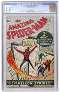 Silver Age (1956-1969):Superhero, The Amazing Spider-Man #1 (Marvel, 1963) CGC FN- 5.5 Cream tooff-white pages....