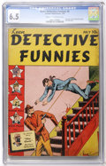 Golden Age (1938-1955):Crime, Keen Detective Funnies #8 (Centaur, 1938) CGC FN+ 6.5 Cream to off-white pages....