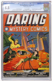 Daring Mystery Comics #1 Kansas City pedigree (Timely, 1940) CGC FN- 5.5 Off-white pages