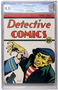 Platinum Age (1897-1937):Miscellaneous, Detective Comics #2 (DC, 1937) CGC VG 4.0 Cream to off-white pages....