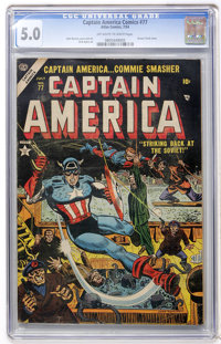 Captain America Comics #77 (Atlas, 1954) CGC VG/FN 5.0 Off-white to white pages