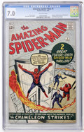 Silver Age (1956-1969):Superhero, The Amazing Spider-Man #1 (Marvel, 1963) CGC FN/VF 7.0 Off-whitepages....