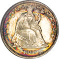 Seated Half Dimes, 1860 H10C Transitional MS64 ★ NGC....